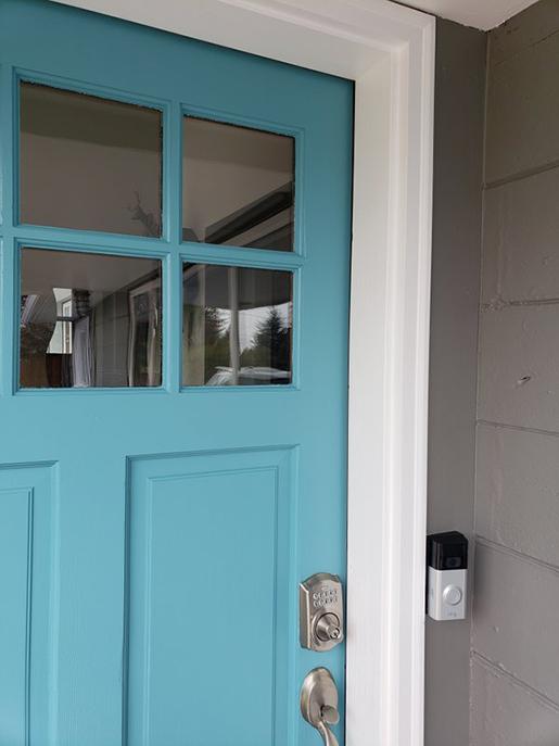 Tiffany Blue Entry Door